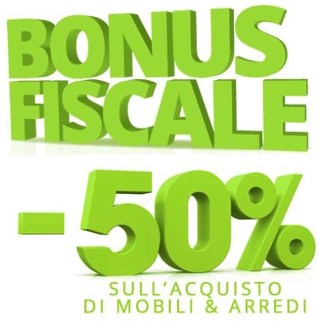 Bonus fiscale del 50 per acquisto mobili outlet della for Bonus fiscale